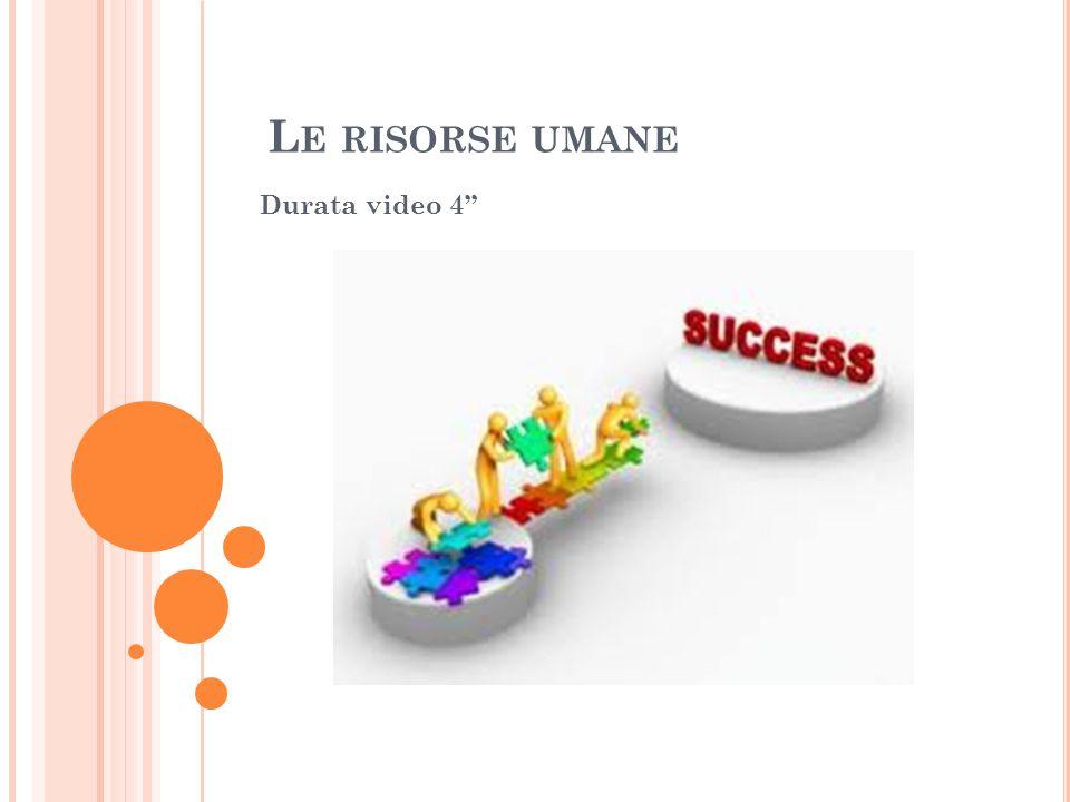 Le risorse umane Durata video 4''