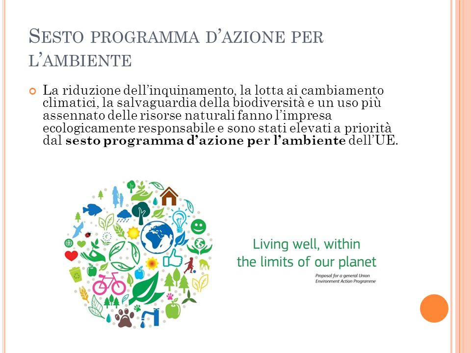 Sesto programma d'azione per l'ambiente