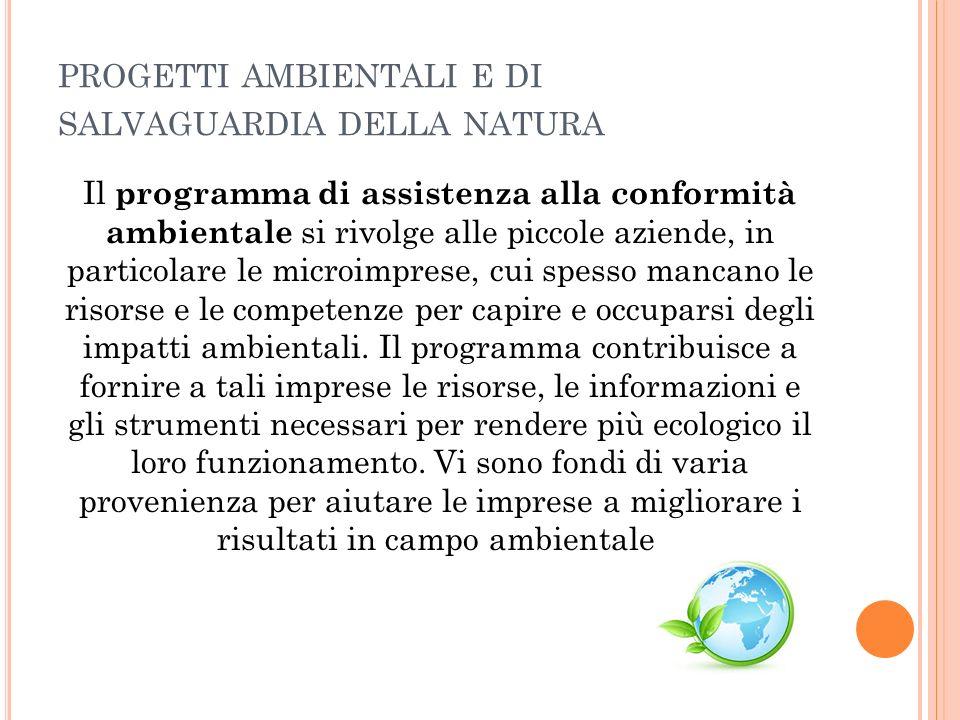 progetti ambientali e di salvaguardia della natura
