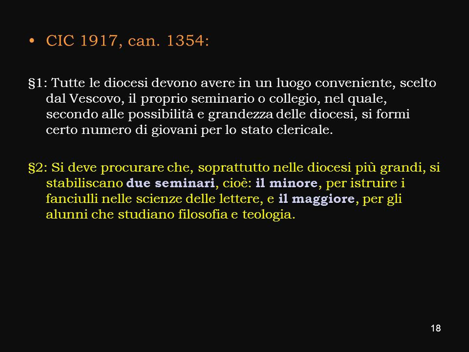 CIC 1917, can. 1354: