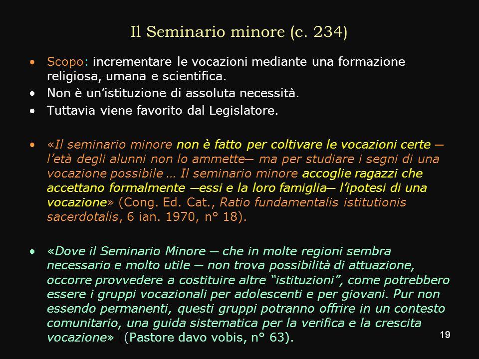 Il Seminario minore (c. 234)