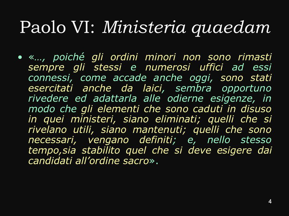 Paolo VI: Ministeria quaedam