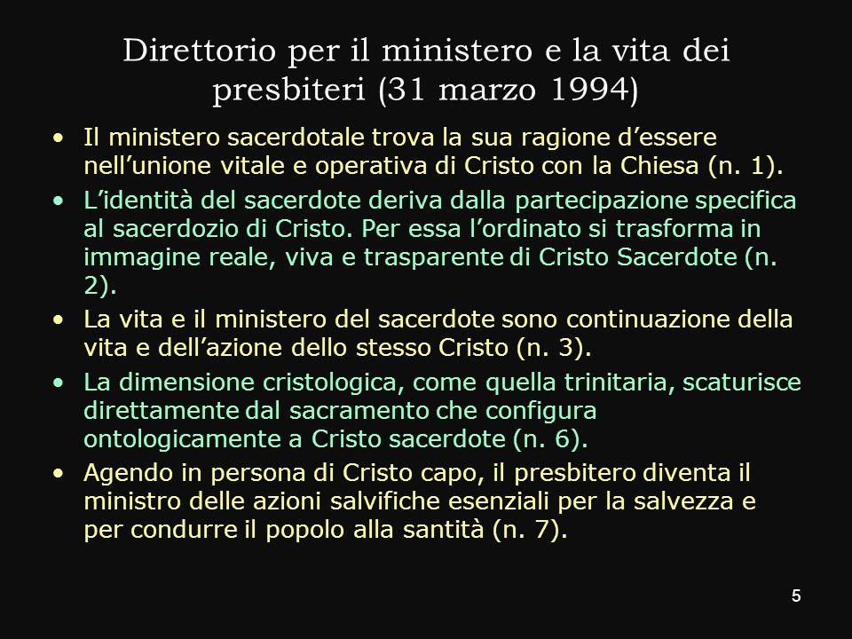 Direttorio per il ministero e la vita dei presbiteri (31 marzo 1994)