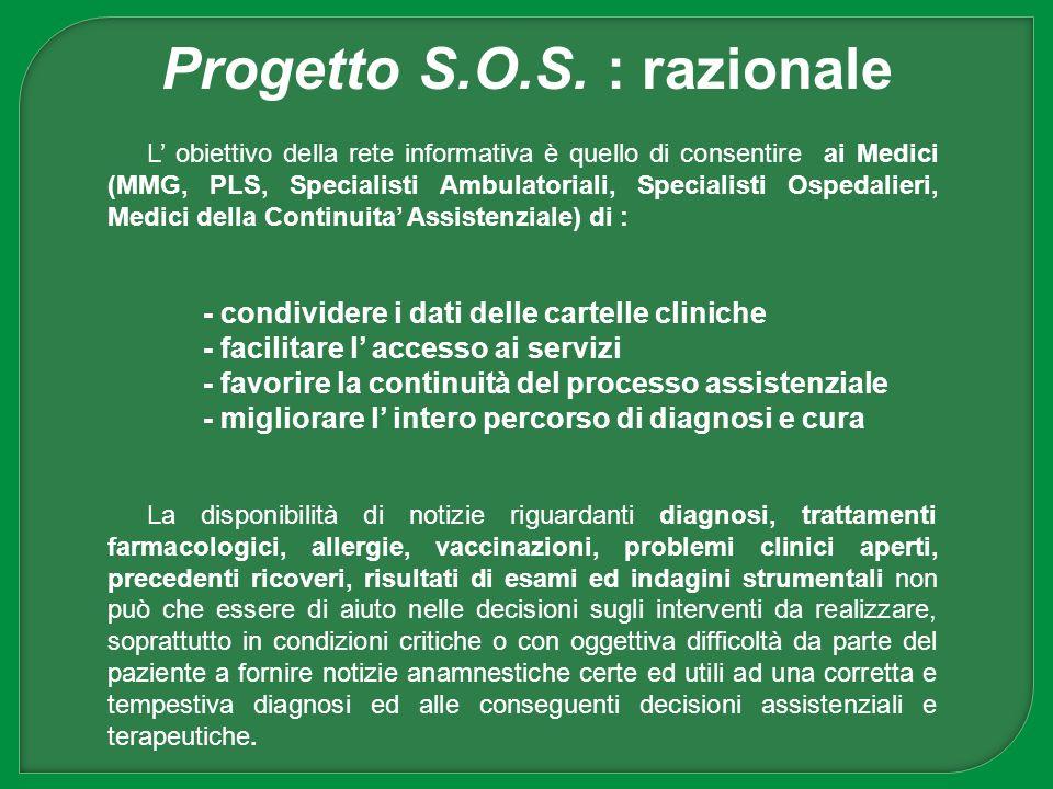 Progetto S.O.S. : razionale