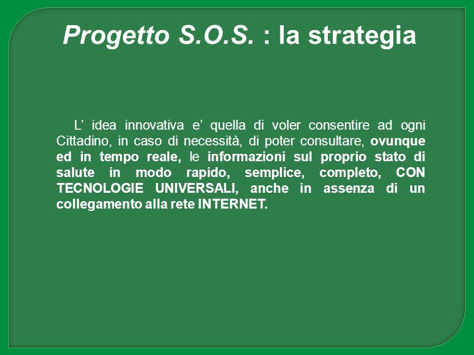 Progetto S.O.S. : la strategia