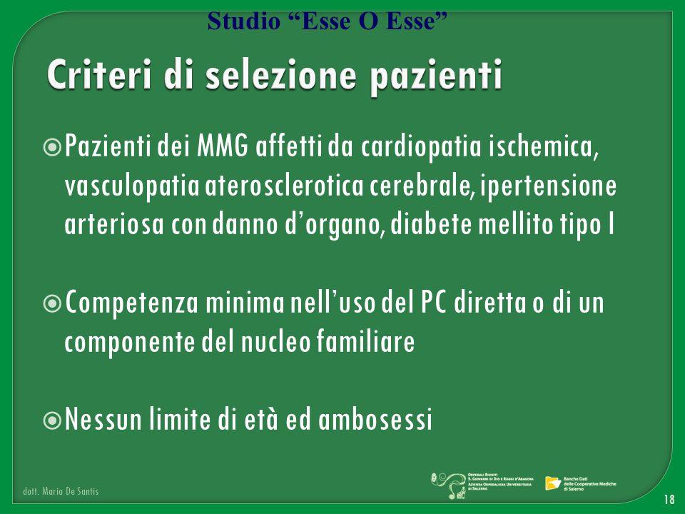 Criteri di selezione pazienti