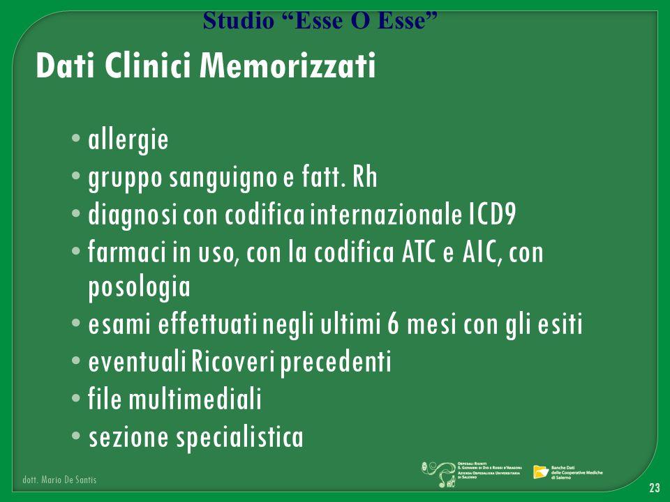 Dati Clinici Memorizzati