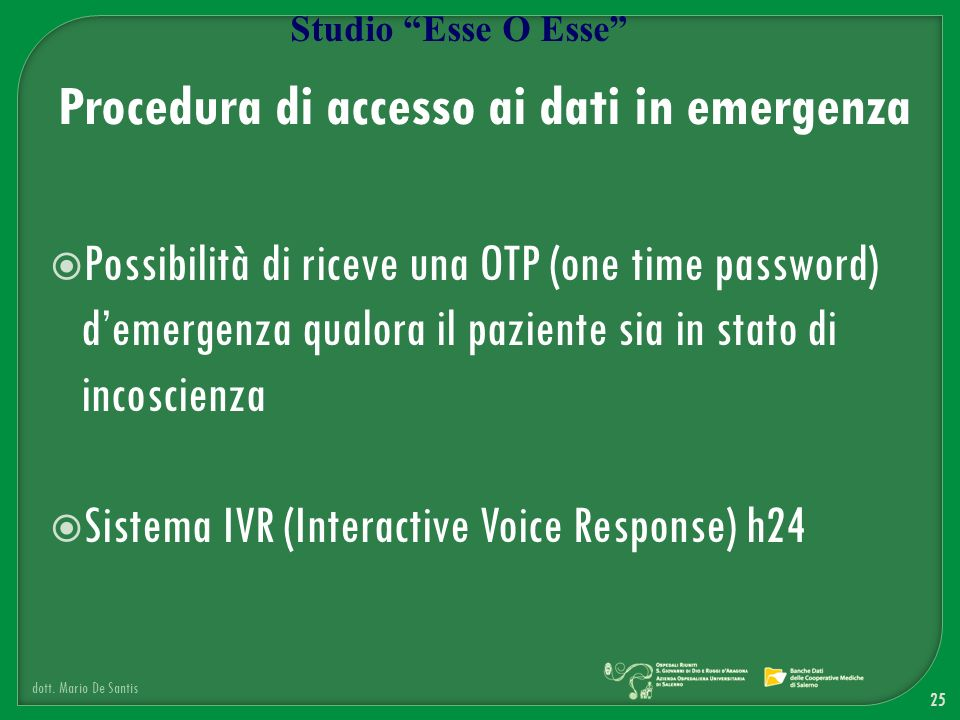 Procedura di accesso ai dati in emergenza