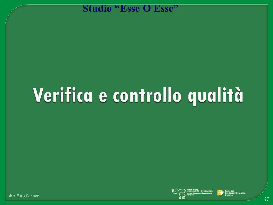 Verifica e controllo qualità