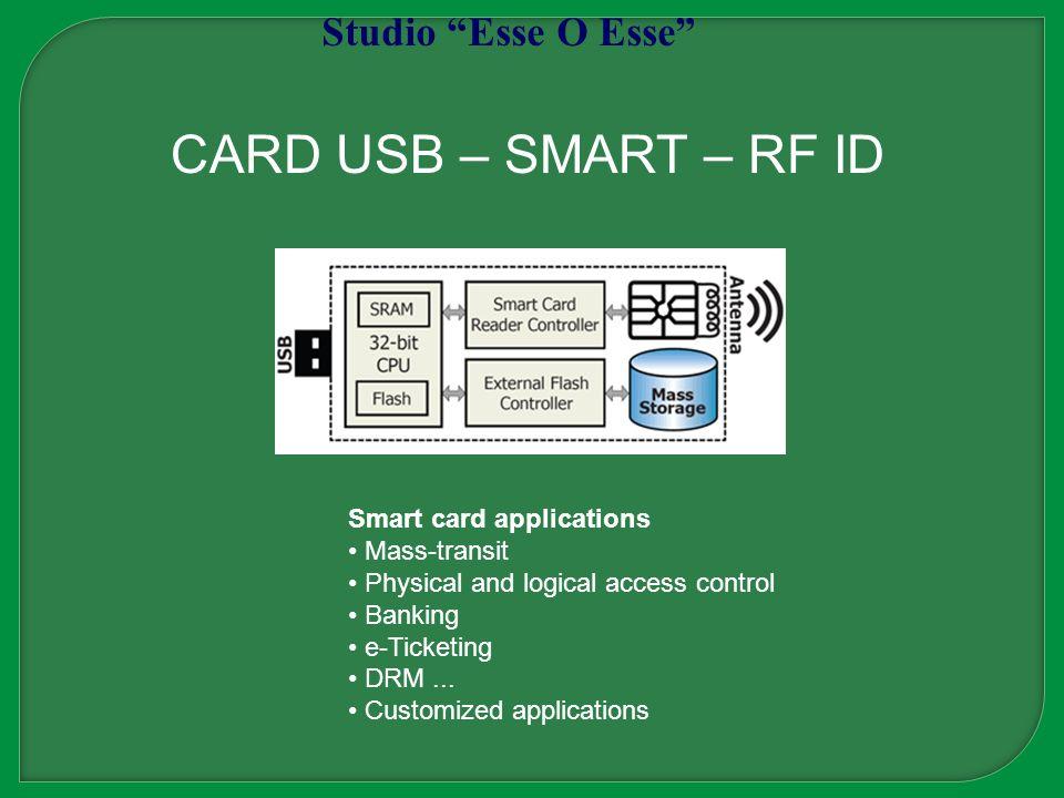 CARD USB – SMART – RF ID Studio Esse O Esse