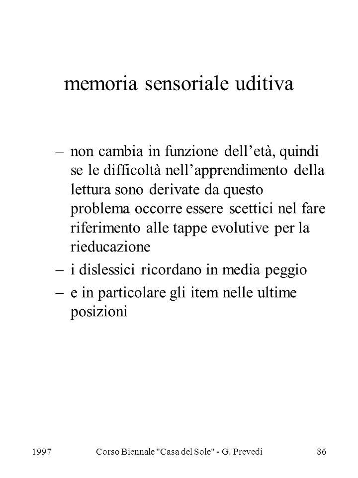 memoria sensoriale uditiva