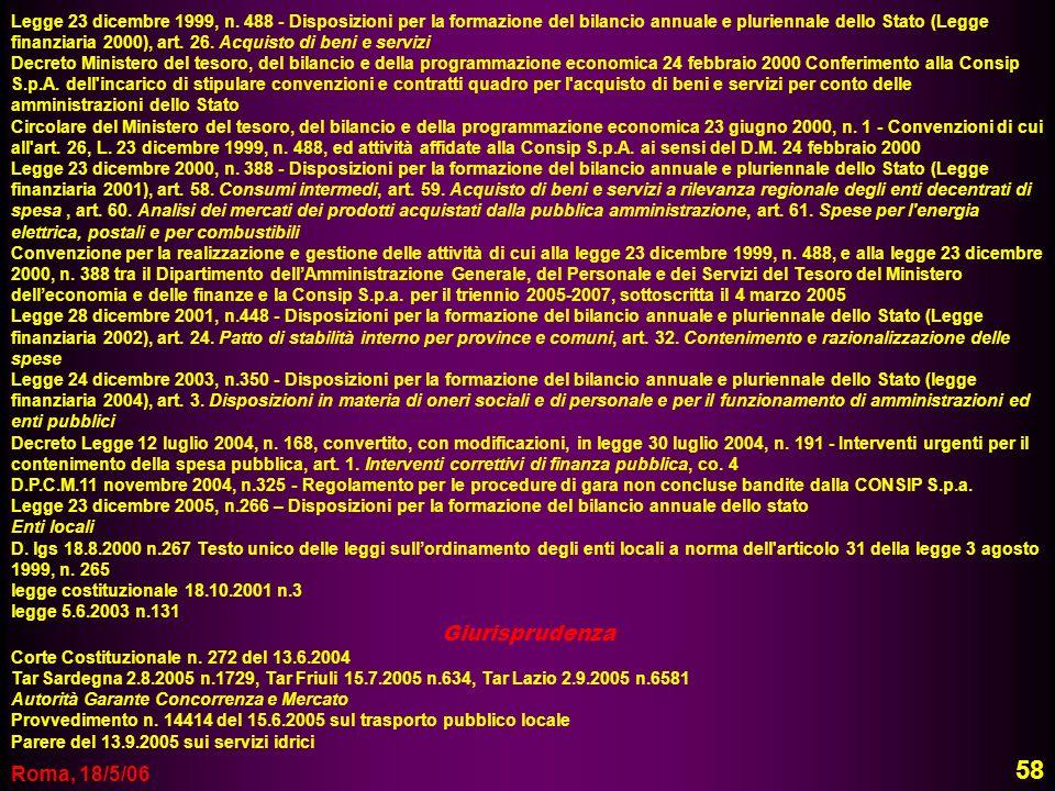 58 Giurisprudenza Roma, 18/5/06