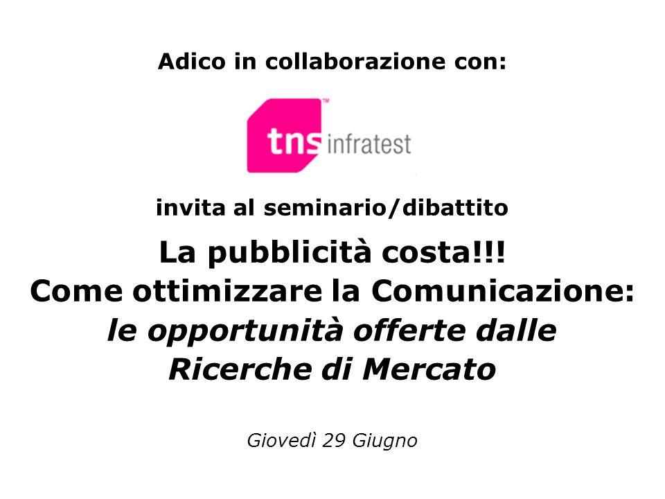 Adico in collaborazione con: invita al seminario/dibattito