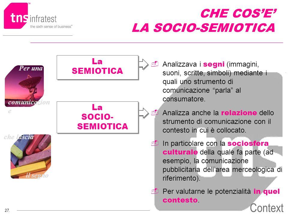 CHE COS'E' LA SOCIO-SEMIOTICA