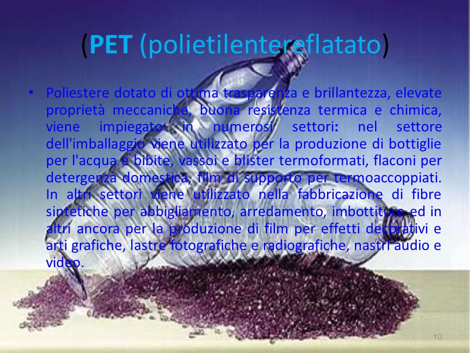 (PET (polietilentereflatato)