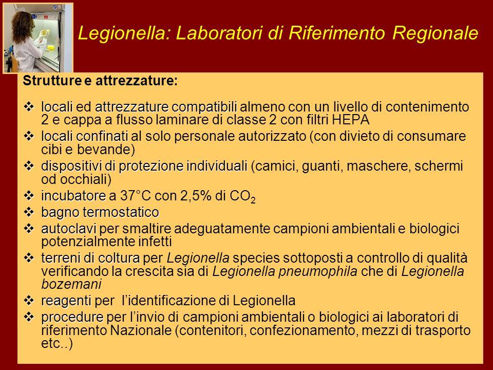 Legionella: Laboratori di Riferimento Regionale