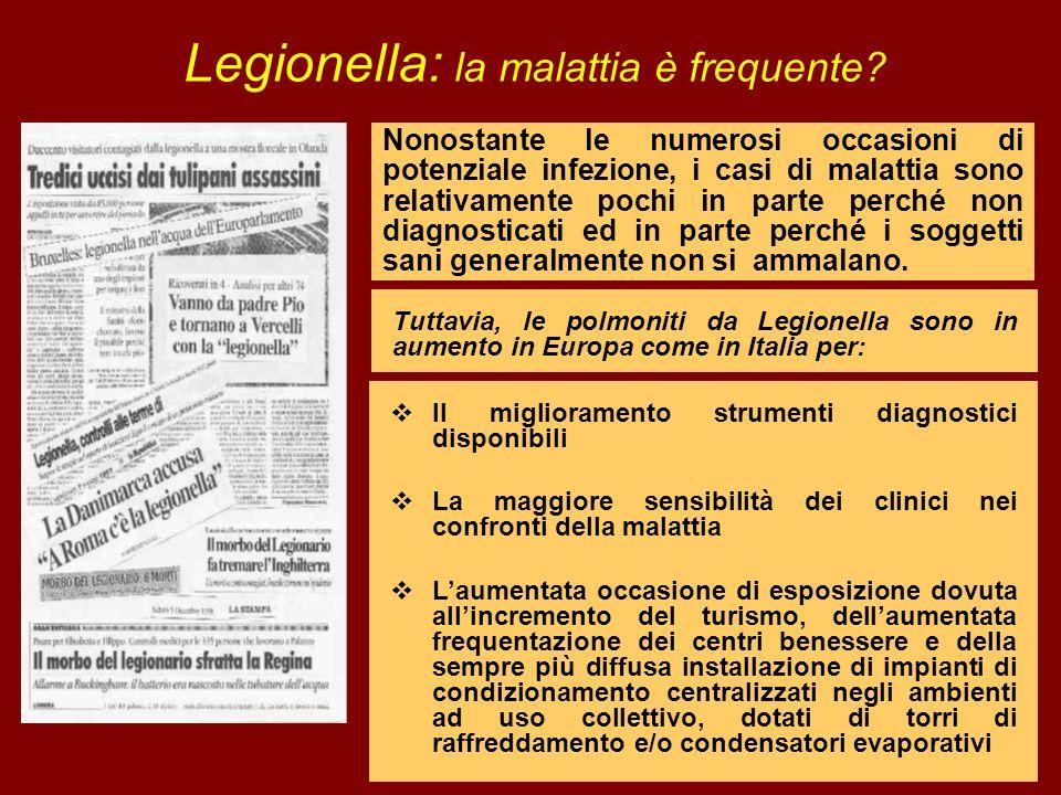 Legionella: la malattia è frequente
