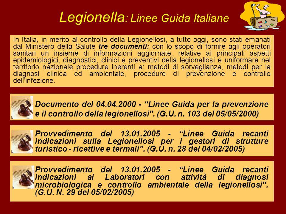 Legionella: Linee Guida Italiane