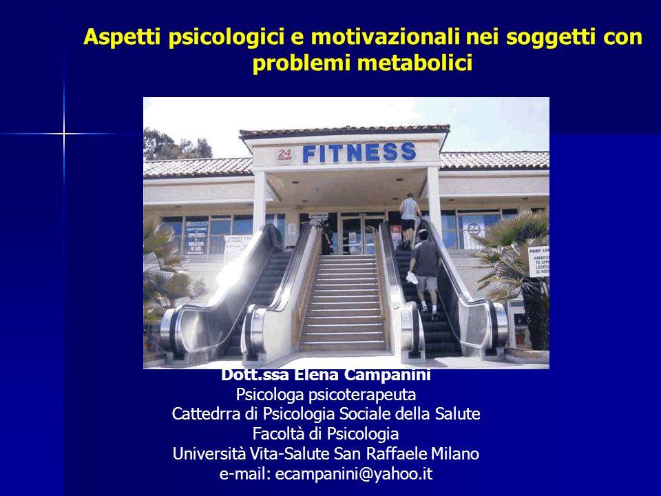 Aspetti psicologici e motivazionali nei soggetti con problemi metabolici