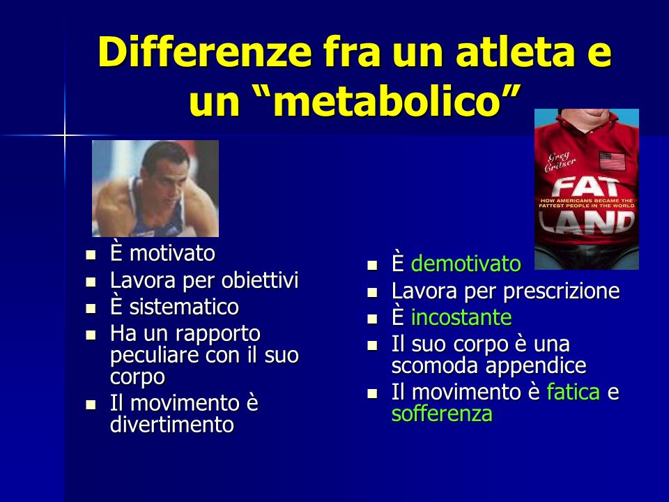 Differenze fra un atleta e un metabolico