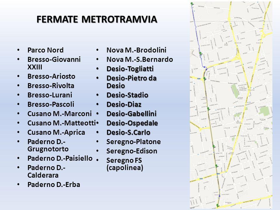 FERMATE METROTRAMVIA Parco Nord Nova M.-Brodolini