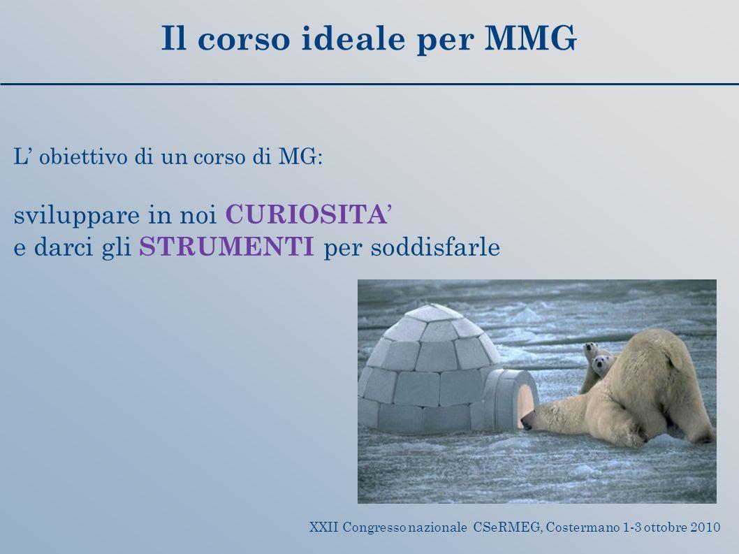 Il corso ideale per MMG sviluppare in noi CURIOSITA'
