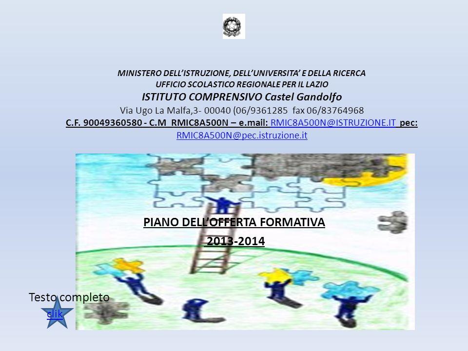 PIANO DELL'OFFERTA FORMATIVA 2013-2014 Testo completo