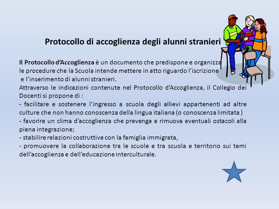 Protocollo di accoglienza degli alunni stranieri