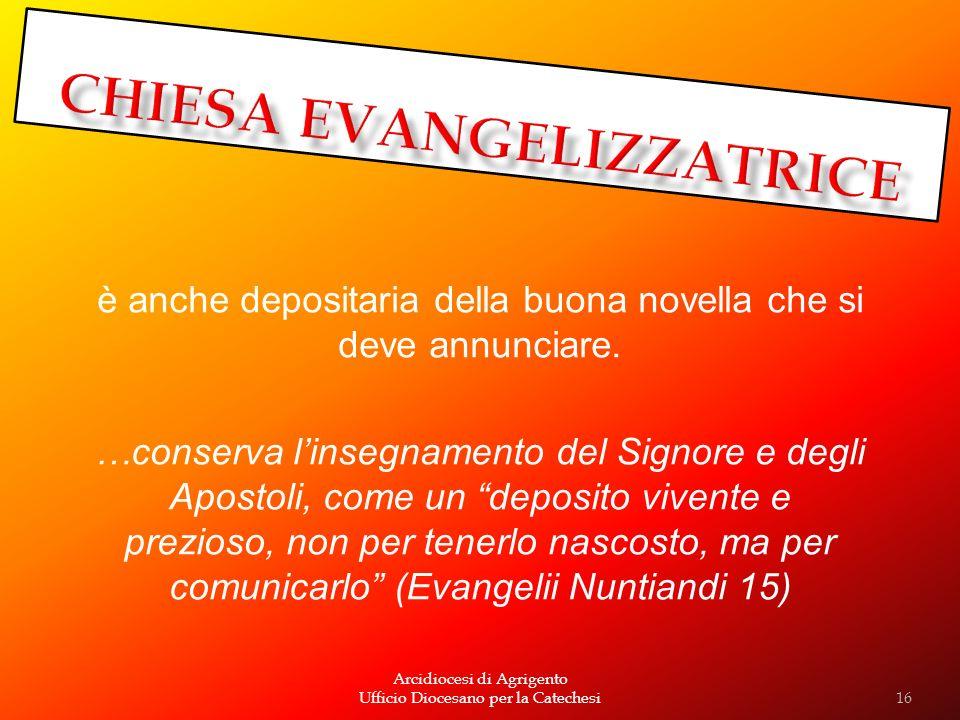 CHIESA EVANGELIZZATRICE