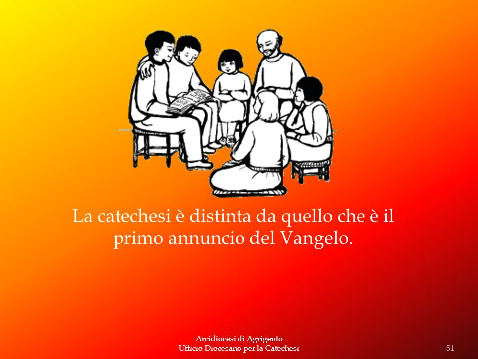 La catechesi è distinta da quello che è il primo annuncio del Vangelo.