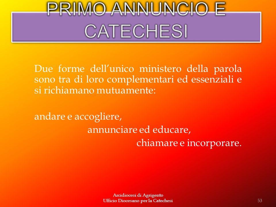 PRIMO ANNUNCIO E CATECHESI