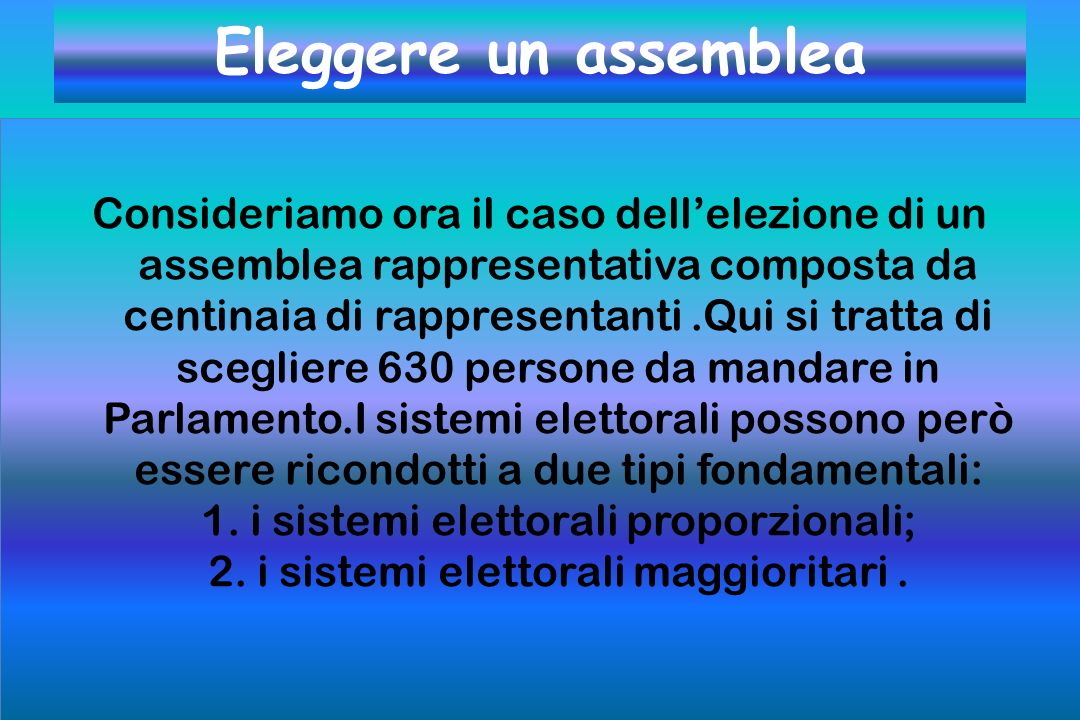 Eleggere un assemblea