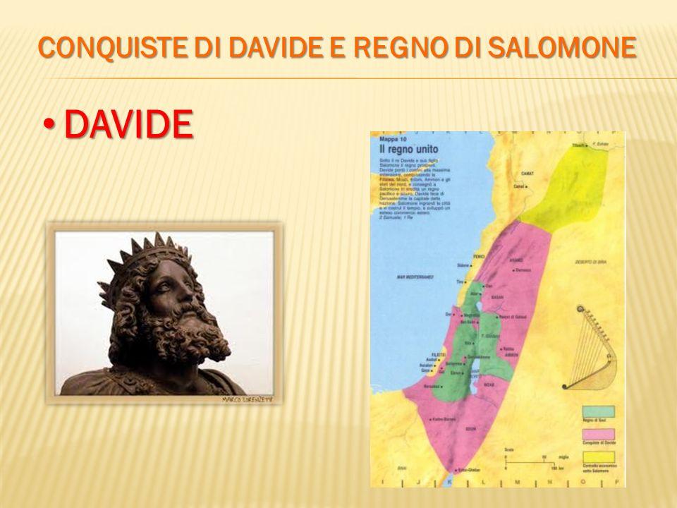 CONQUISTE DI DAVIDE E REGNO DI SALOMONE