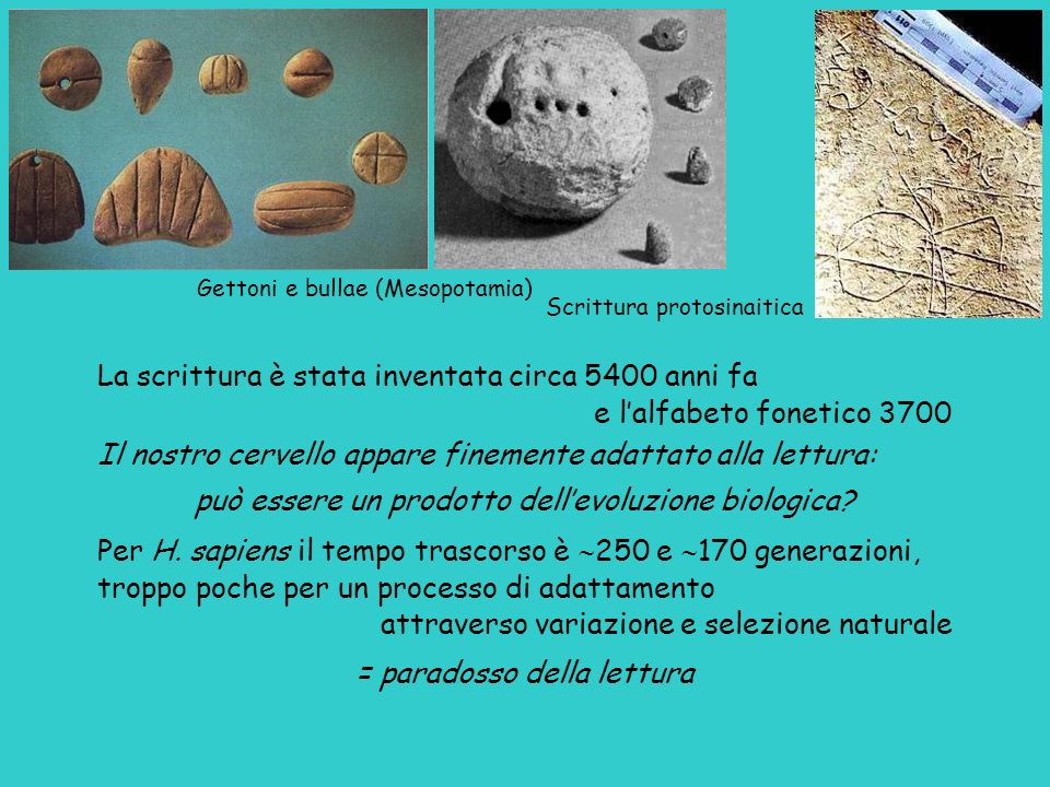 La scrittura è stata inventata circa 5400 anni fa