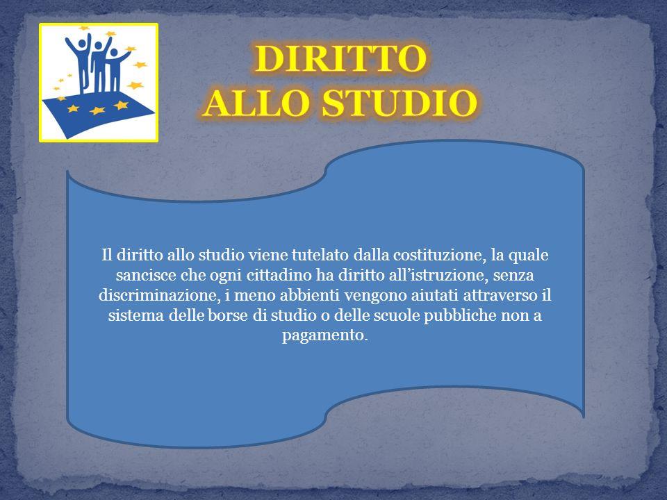 DIRITTO ALLO STUDIO.