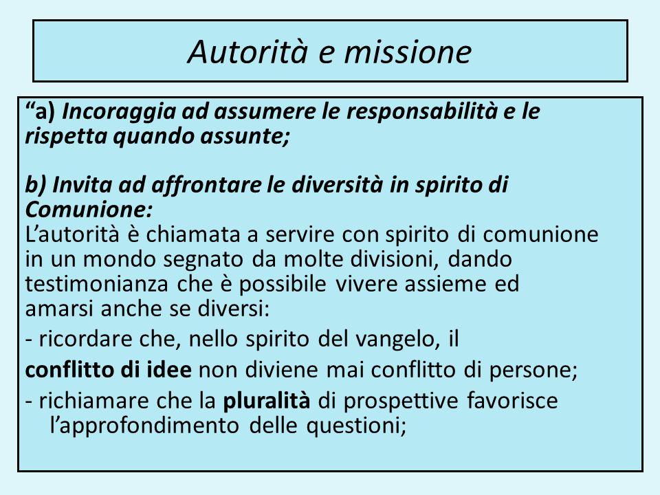 Autorità e missione