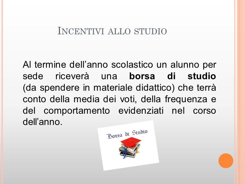 Incentivi allo studio