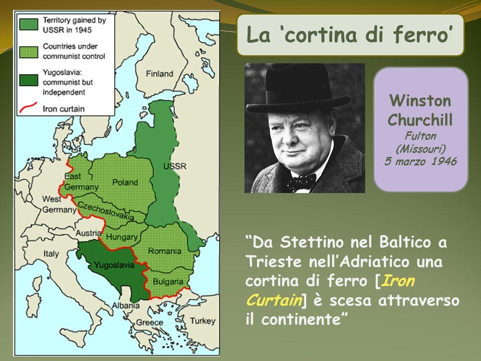 La 'cortina di ferro' Winston Churchill