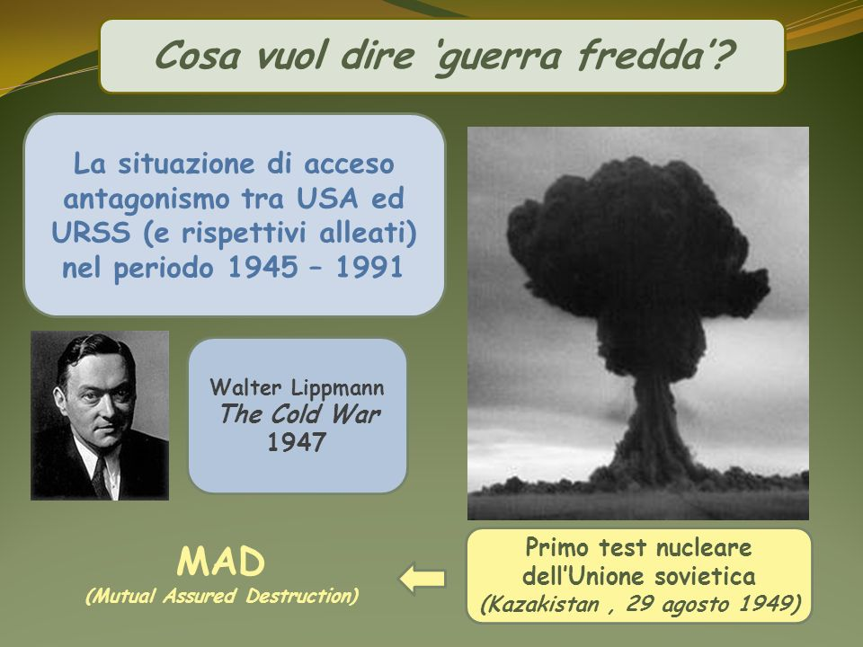 Cosa vuol dire 'guerra fredda' MAD