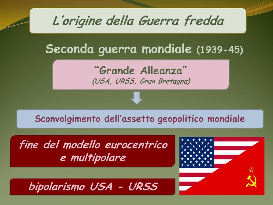 L'origine della Guerra fredda Seconda guerra mondiale (1939-45)