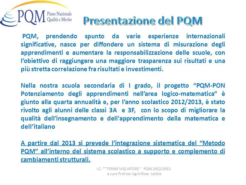 Presentazione del PQM