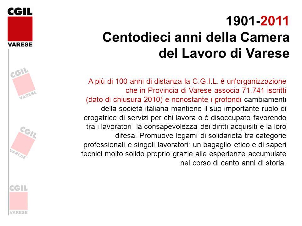 Centodieci anni della Camera del Lavoro di Varese