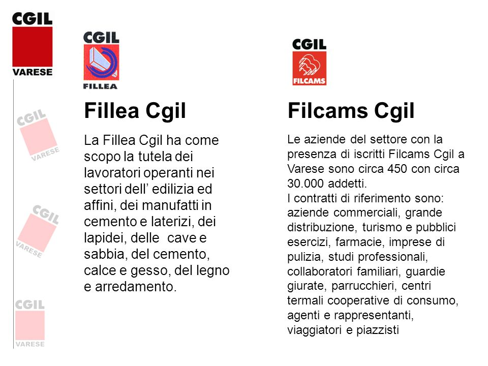 Fillea Cgil Filcams Cgil