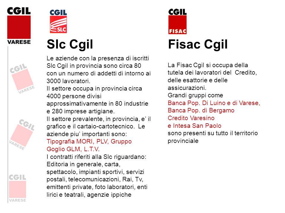 Slc Cgil Fisac Cgil.