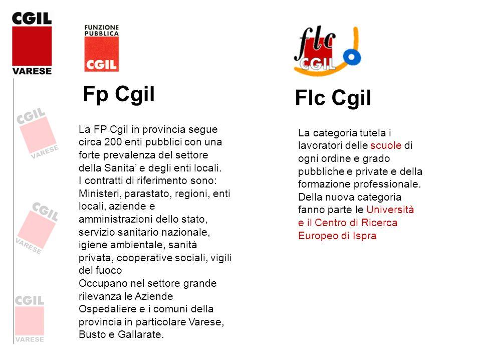 Fp Cgil Flc Cgil. La FP Cgil in provincia segue circa 200 enti pubblici con una forte prevalenza del settore della Sanita' e degli enti locali.