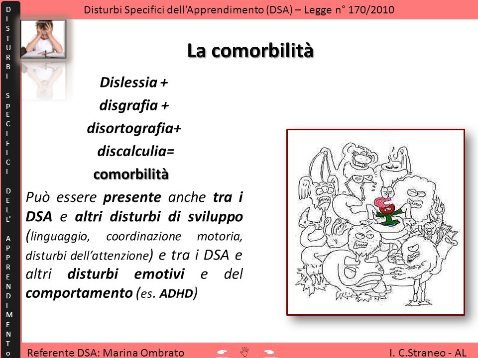 Disturbi Specifici dell'Apprendimento (DSA) – Legge n° 170/2010
