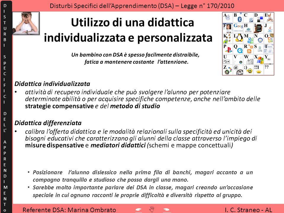Utilizzo di una didattica individualizzata e personalizzata