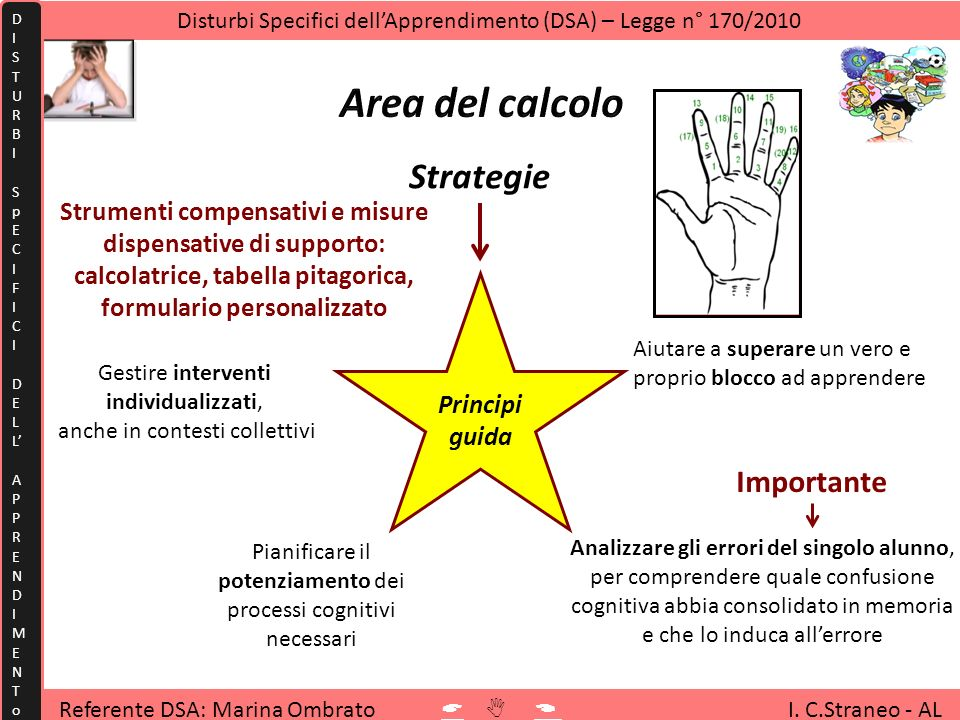 Area del calcolo Strategie Importante