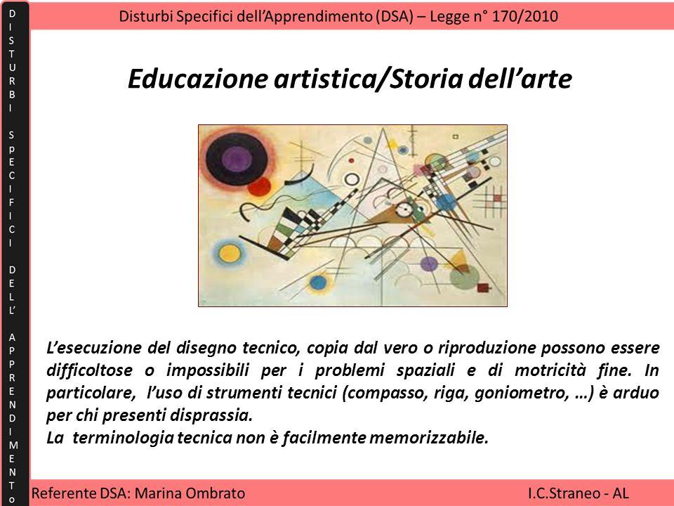 Educazione artistica/Storia dell'arte