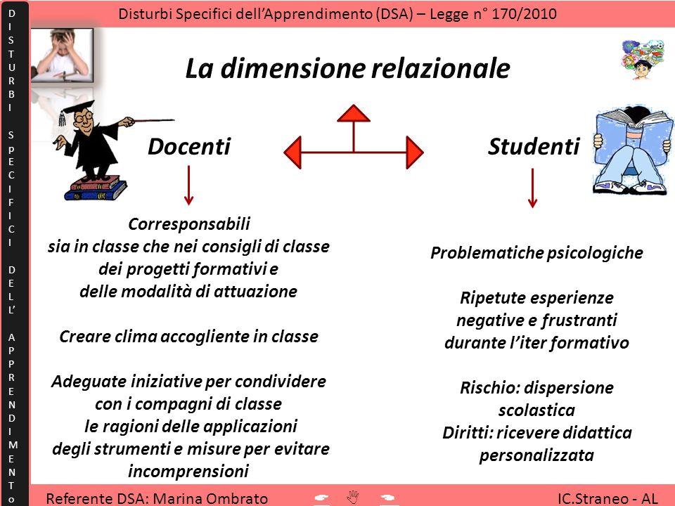 La dimensione relazionale